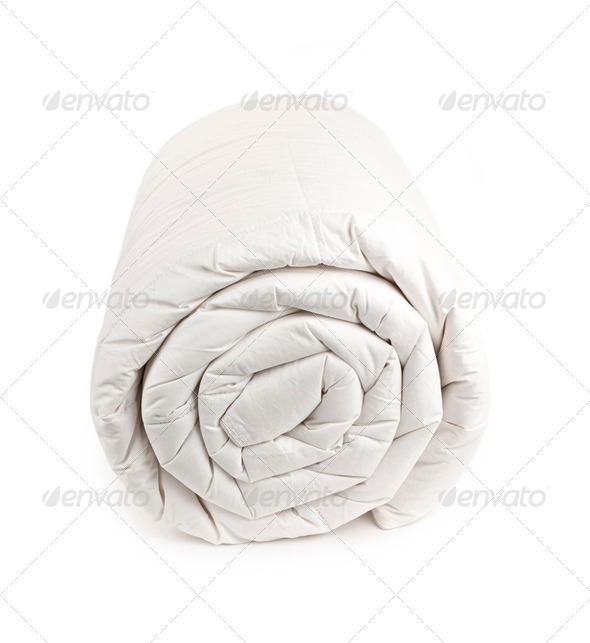 Rolled up duvet - Stock Photo - Images