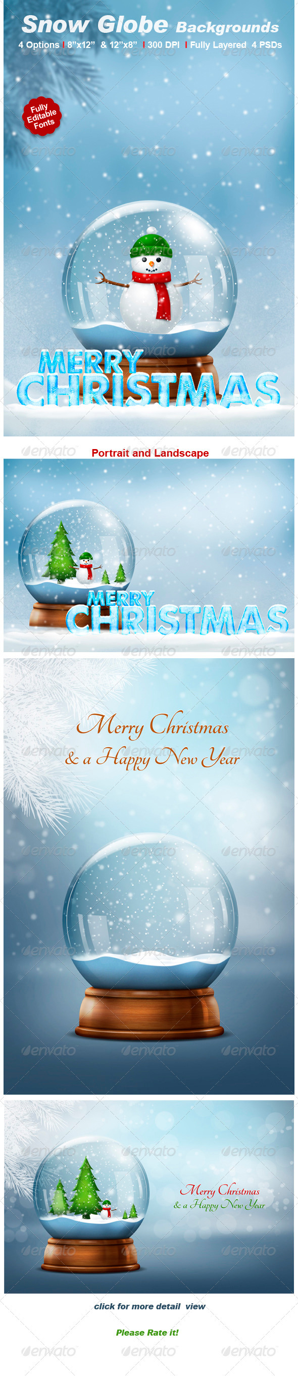 Snow Globe Backgrounds - Backgrounds Graphics