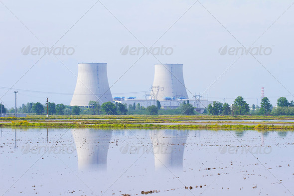 Nuclear Power Plant - Stock Photo - Images