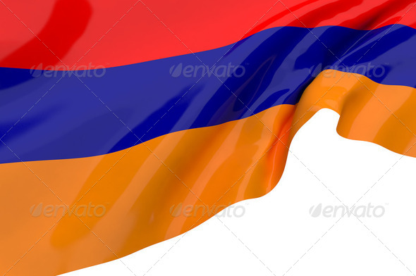 Illustration flags of Armenia - Stock Photo - Images