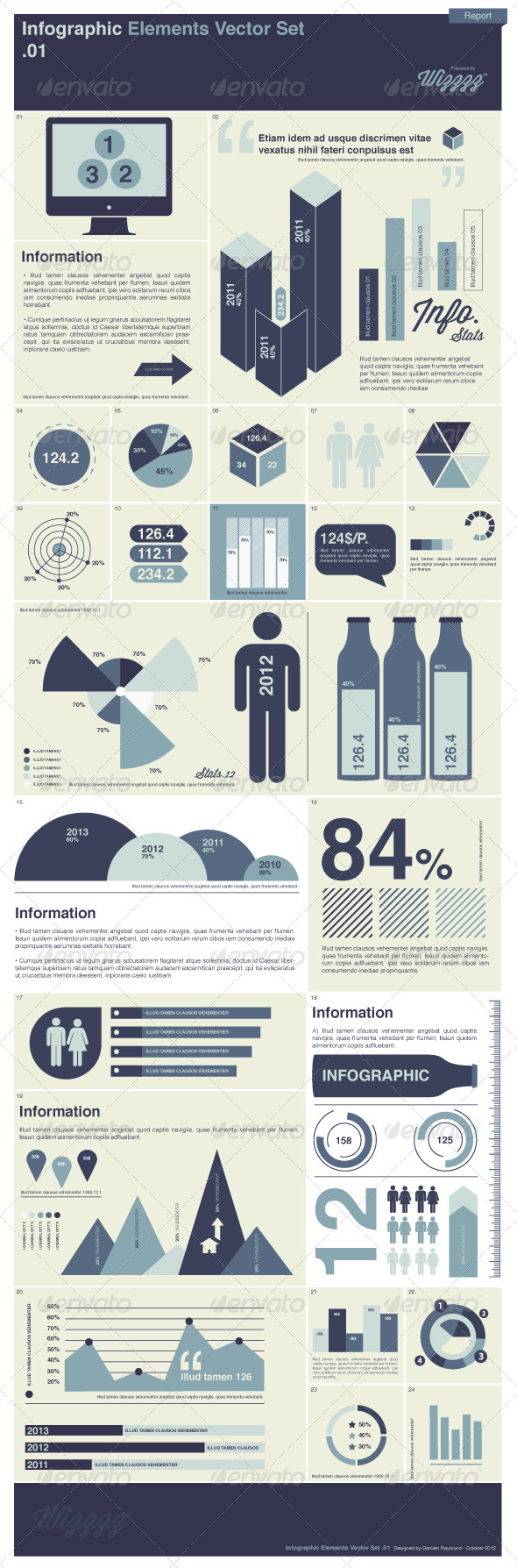 GraphicRiver Infographic Elements Vector Set 1 3345918