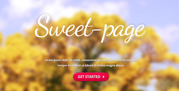Sweet-page Landing Page
