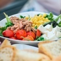 Vegetable salad with tuna and bread - PhotoDune Item for Sale