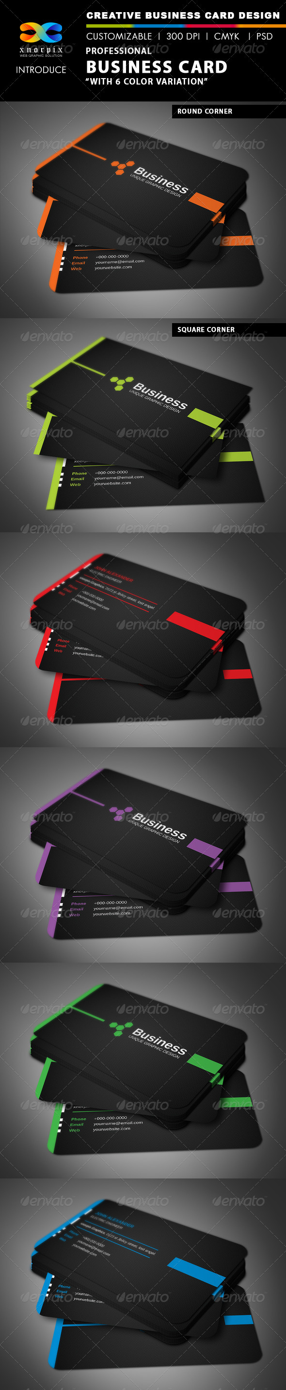 GraphicRiver Professional Business Card 3346115