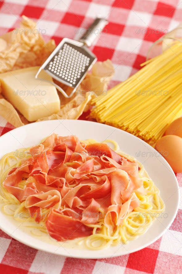 Pasta carbonara - Stock Photo - Images
