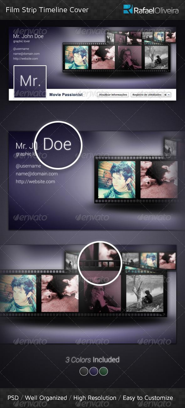 GraphicRiver Film Strip FB Timeline Cover 3346134