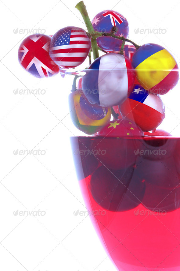 Wines from all Countries - Stock Photo - Images