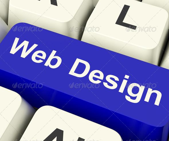 PhotoDune Web Design Computer Key Showing Internet Or Online Graphic Desig 2292325