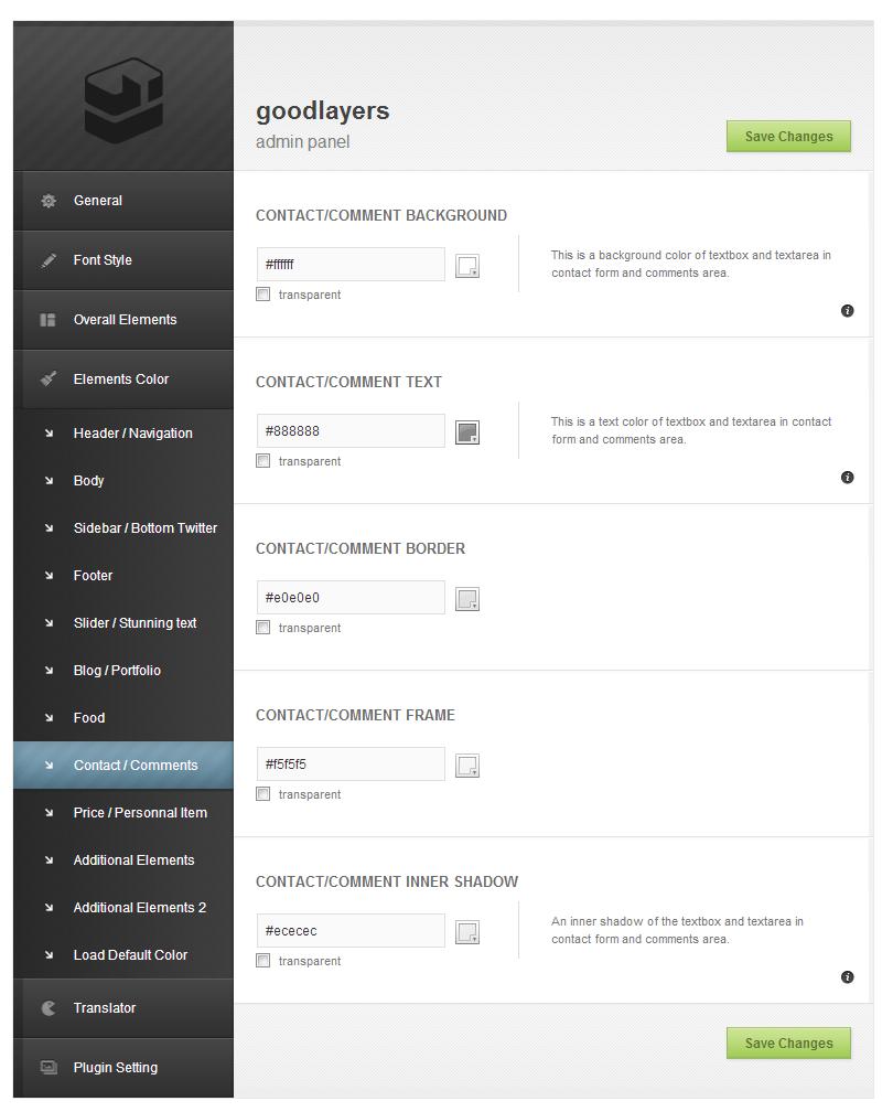 Delicieux - Restaurant Wordpress Theme - adminpanel