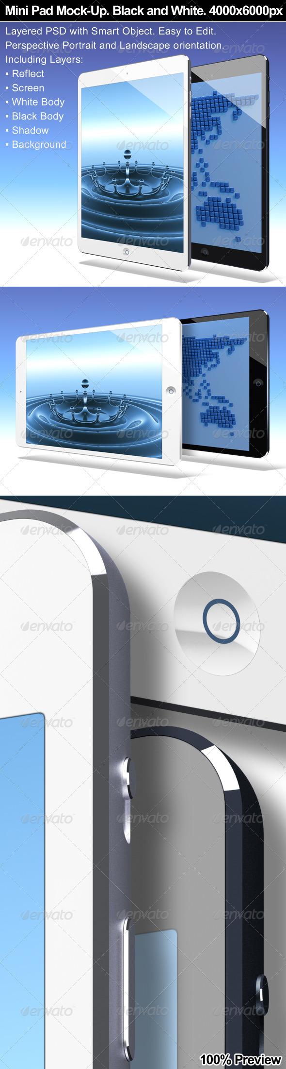 Mini Pad Tablet Mock-Up - Mobile Displays