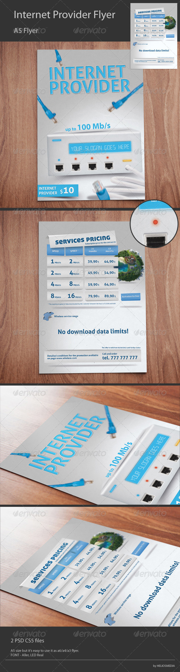 GraphicRiver Wireless Internet Provider Flyer 3227501