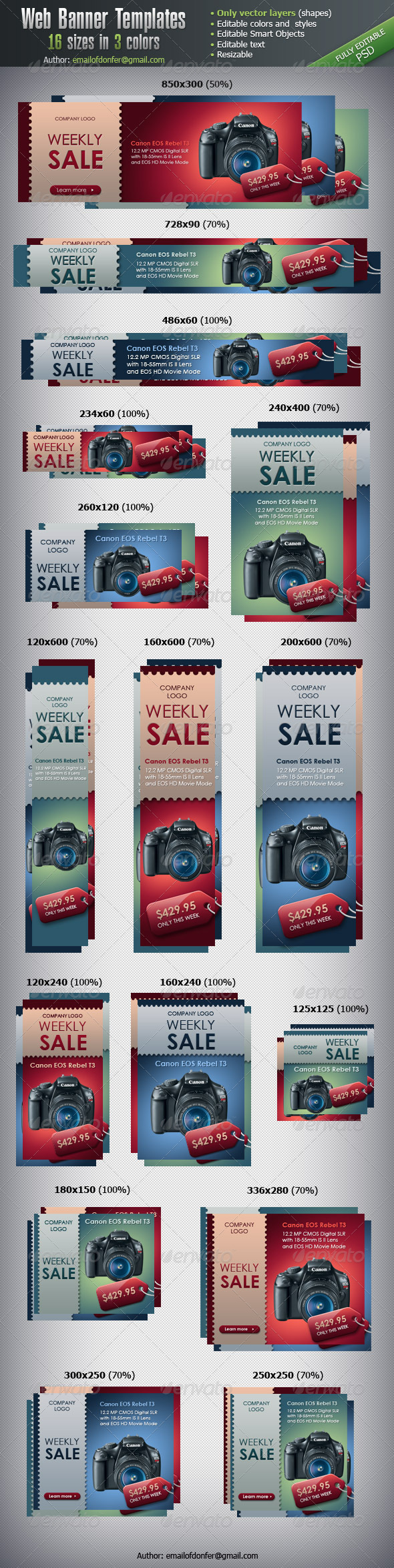 GraphicRiver Web Banner Templates 16 sizes 3202760
