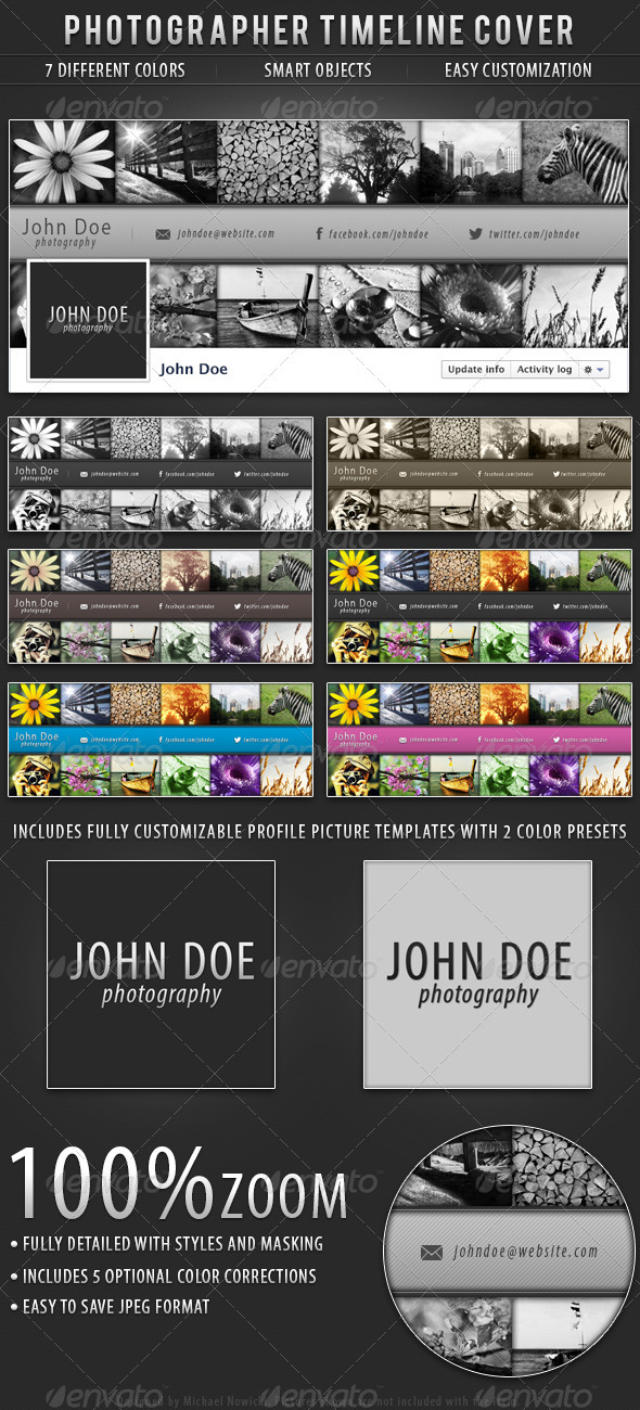 GraphicRiver Photographer FB Timeline Cover 3346383