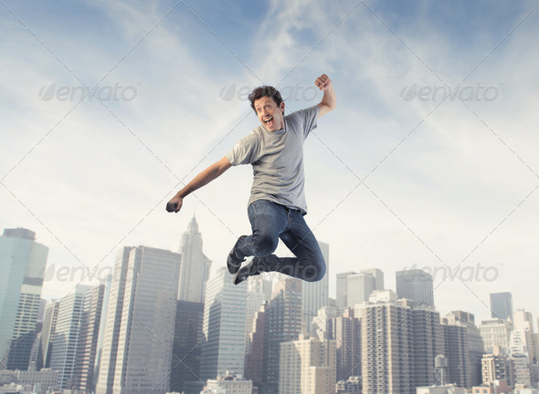 Fun in the city - Stock Photo - Images