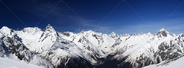 Mountain panorama. Caucasus - Stock Photo - Images