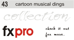 43. Cartoon Musical Dings