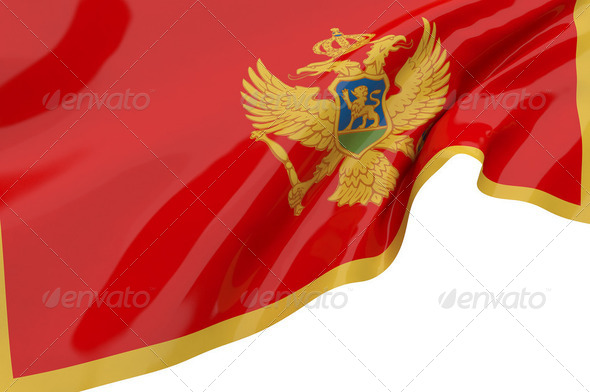 Vector Flags of Montenegro - Stock Photo - Images
