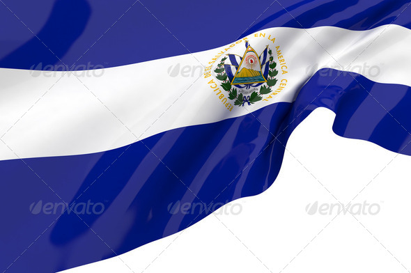 Vector Flags of El Salvador - Stock Photo - Images