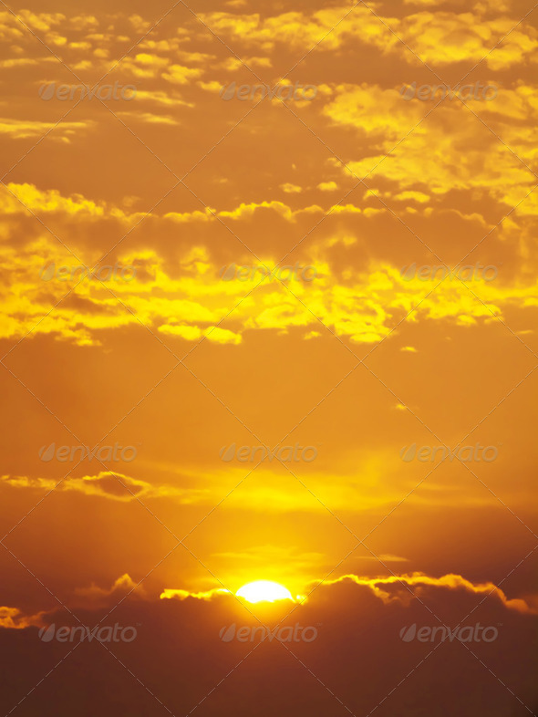 Golden sky - Stock Photo - Images