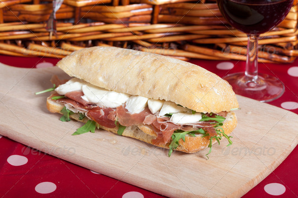 Parma ham sandwich - Stock Photo - Images