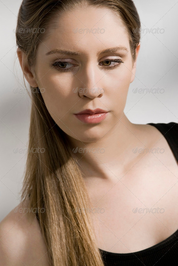 Serious woman - Stock Photo - Images
