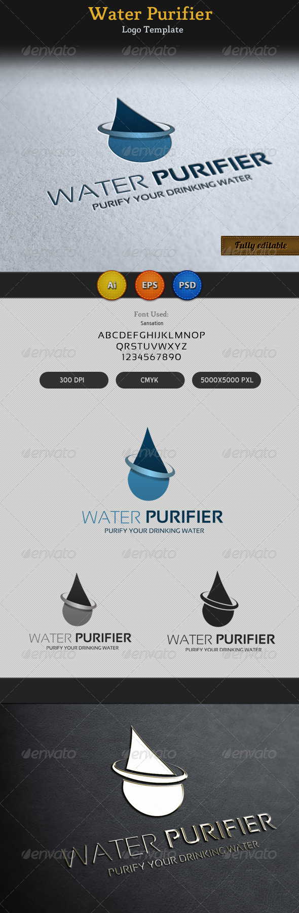 Water Purifier Logo Template - Objects Logo Templates