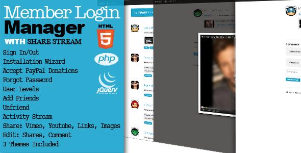 CodeCanyon Member Login Manager & Activity Stream 3316956
