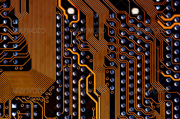 labyrinth - printed circuit - motherboard - Stock Photo - Images