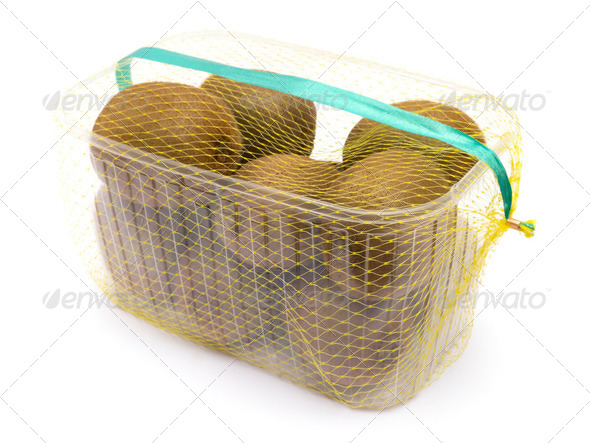 Kiwis in Basket - Stock Photo - Images