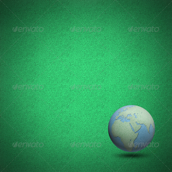Globes green grass background - Stock Photo - Images