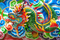 chinese dragon statue at the wall of temple, Thailand - PhotoDune Item for Sale