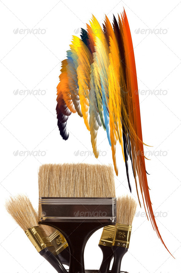Brushes for painting - Stock Photo - Images
