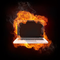 Laptop in Fire - PhotoDune Item for Sale