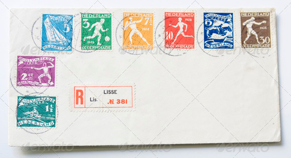 Envelope with stamps - Stock Photo - Images