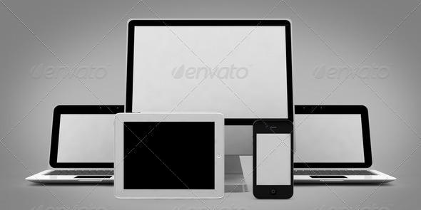 Computer and Mobile Devices - Stock Photo - Images