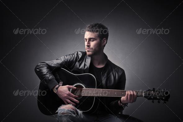 Guitarist - Stock Photo - Images