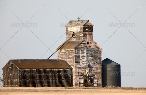 Old Vintage Grain Elevator - Stock Photo - Images