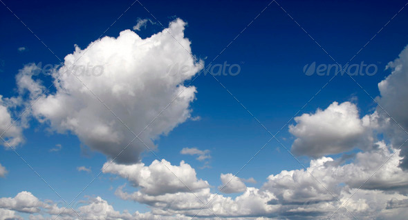 Blue sky and white clouds - Stock Photo - Images