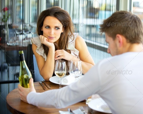 Woman In Love On Romantic Date - Stock Photo - Images