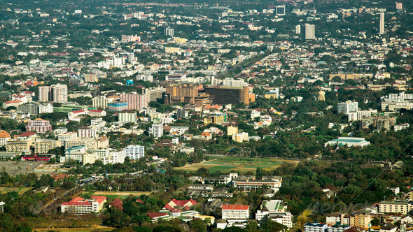 View of Chiang Mai city - Stock Photo - Images