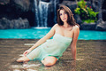 Beautiful Girl Relaxing at Tropical Resort - PhotoDune Item for Sale