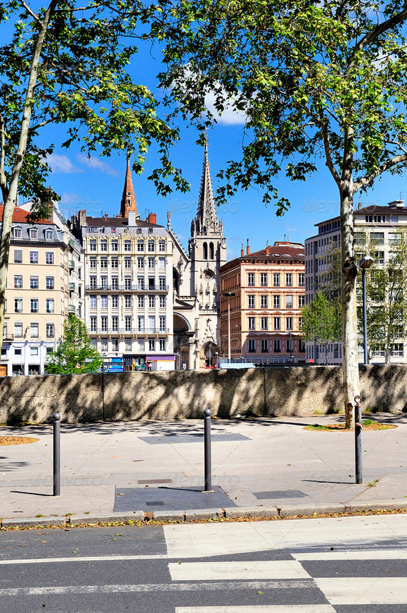 Lyon view, France - Stock Photo - Images