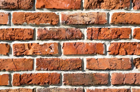 Burnt brick wall - Stock Photo - Images