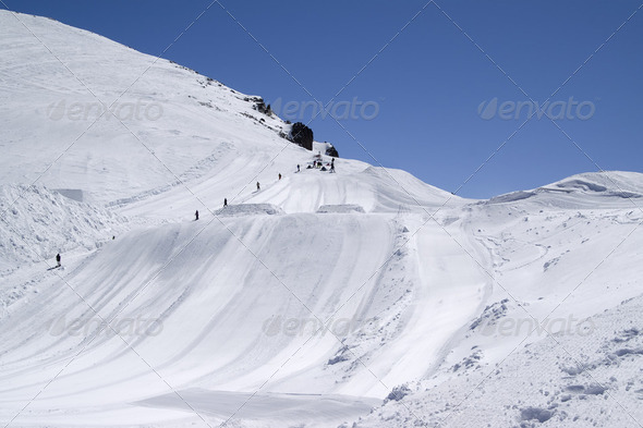 Ski jumping board - Stock Photo - Images