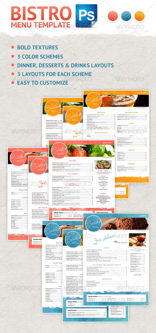GraphicRiver Bistro Menu Design 3347571