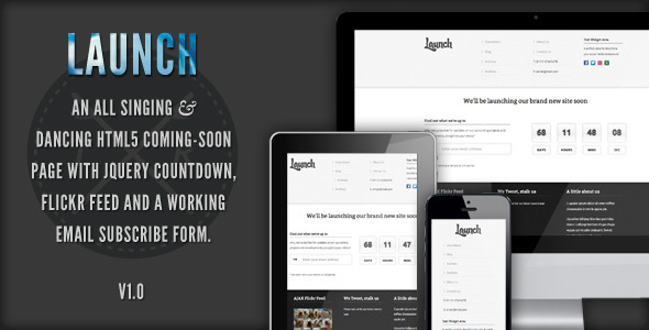 ThemeForest Launch Responsive Coming Soon Page 3037081