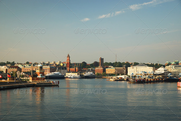 Water front of Helsingborg - Stock Photo - Images
