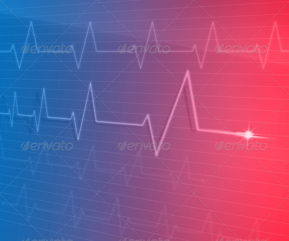 EKG Line - Stock Photo - Images