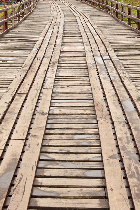 Rope walkway through - Stock Photo - Images