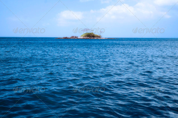 deserted tropical island - Stock Photo - Images